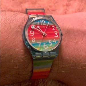 Swatch GS124 Quartz Rainbow Ladies Watch